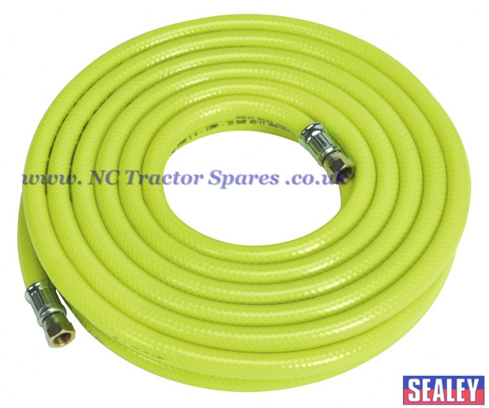 "Air Hose High Visibility 10mtr x 10mm with 1/4""BSP Unions"